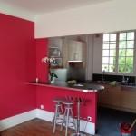 rénovation peinture d'une cuisine design - batiprestige 78